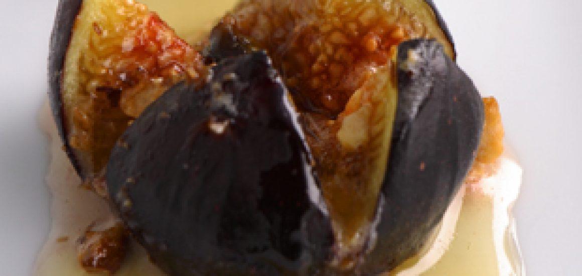 Roasted Figs with Vino Cotto, Marscapone & Halzelnut