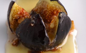 Roasted Figs with Vino Cotto, Marscapone & Halzelnut