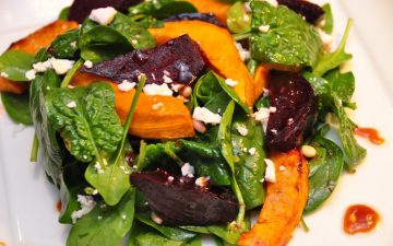 Roasted Beetroot and Pumpkin salad with Vino Cotto dressing