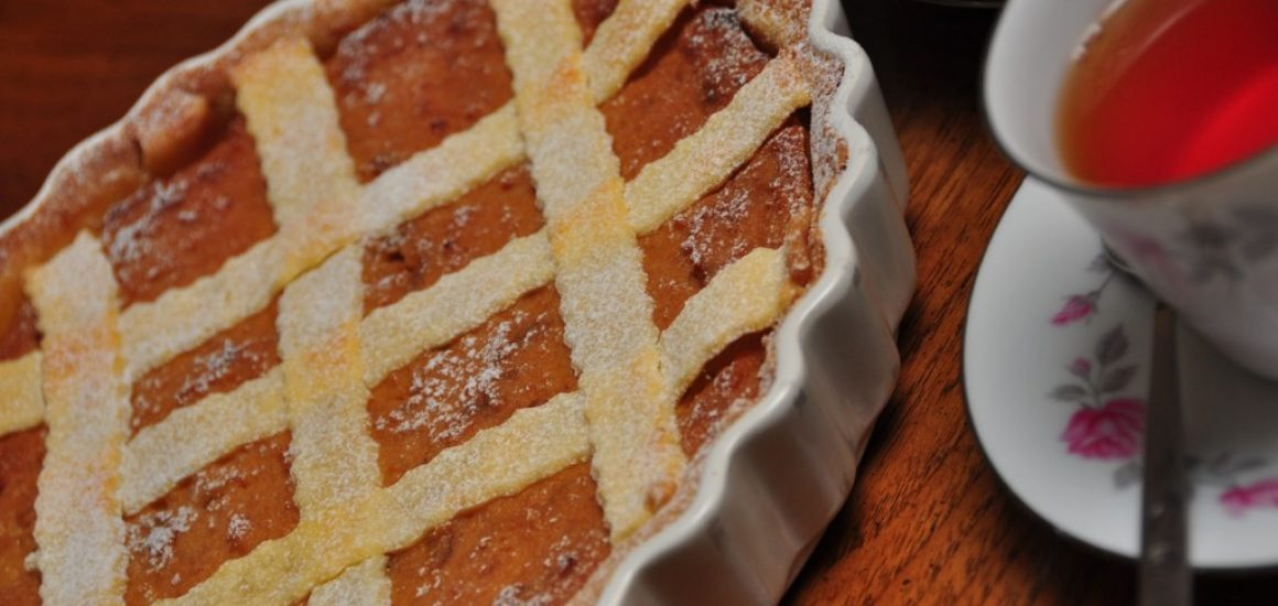 Ricotta & Hazelnut torte with figs soaked in Vino Cotto