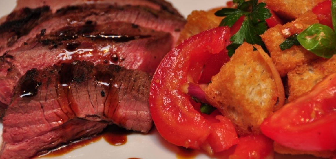 Vino Cotto BBQ Lamb with Panzanella Salad
