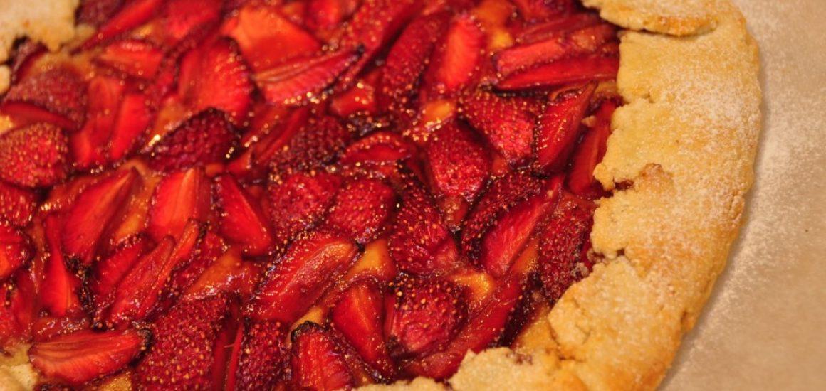 Vino Cotto Glazed Strawberries and Almond Crostata