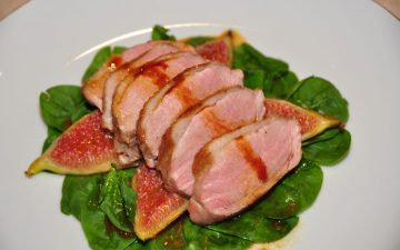 Roasted duck breast with Vino Cotto and grilled figs