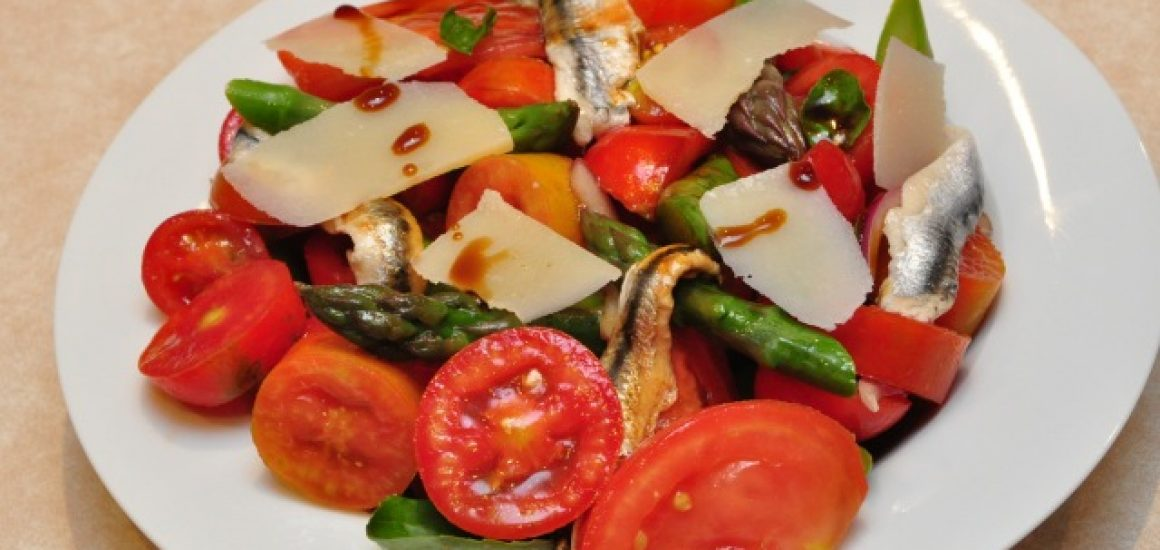 Tomato and White Anchovy Salad with VinoCotto