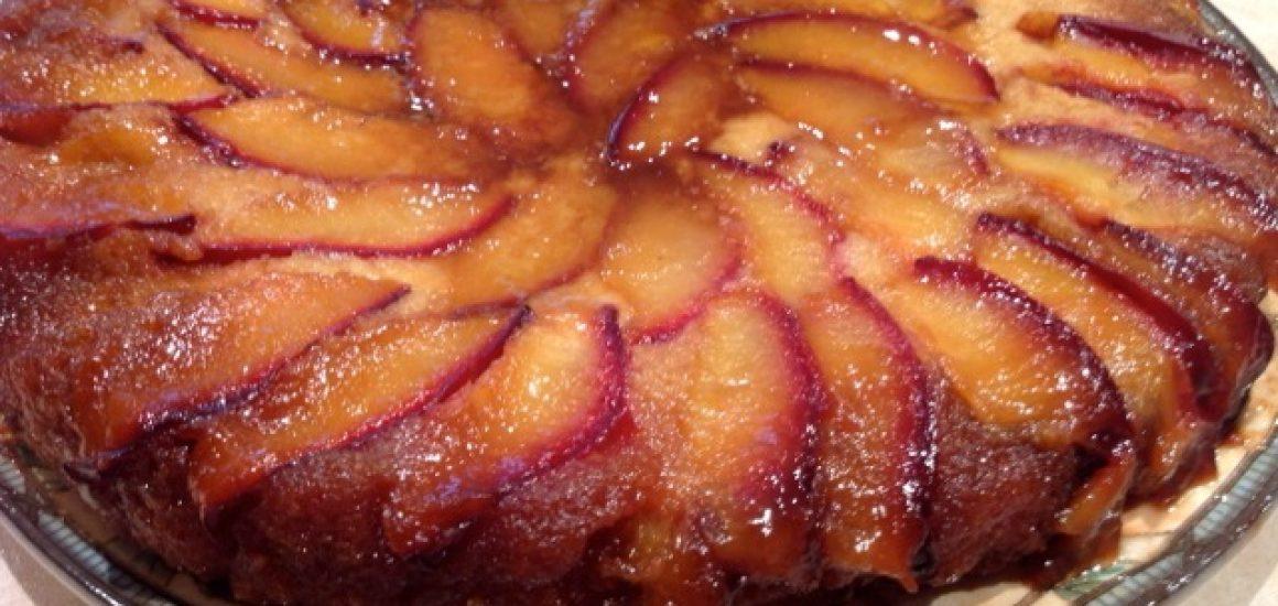Vino Cotto Plum Upside Down Almond Cake