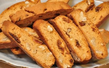 Walnut and Fig VinCotto biscotti