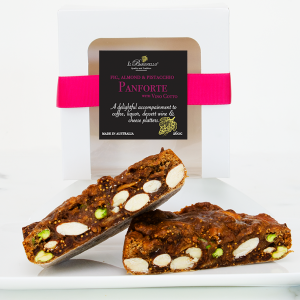 Panforte Fig, Almonds and Hazelnuts with VinoCotto. Artisan made.